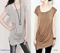 Ripple++draping+asymmetrical+tunic+Tshirt+modal+by+idea2lifestyle,+$38.00