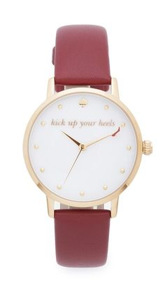 Kate Spade New York Metro Kick Up Your Heels Watch