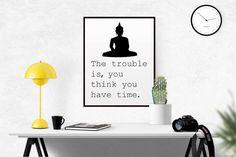 Spiritual Typography Wall Art Print Buddha by BeautyAndStyleDesign
