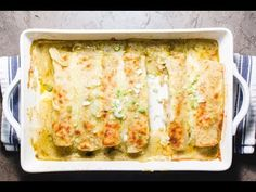 Chicken Enchiladas — SAM THE COOKING GUY - A staple for almost any group event I do. Start with a simple deli roasted chicken and end with the - Fish Recipes, Seafood Recipes, Mexican Food Recipes, Pasta Recipes, Chicken Recipes, Cooking Recipes, Recipe Pasta, Easy Cooking, Cooking Crab