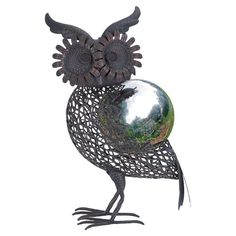 Owl Gazing Ball