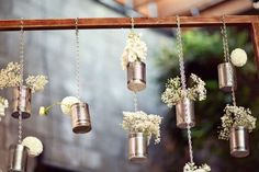 Step your backyard decor up a notch with this tin can DIY.