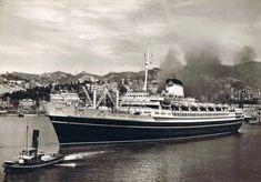 Italian Line ANDREA DORIA departs Genoa