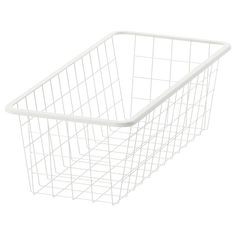 Can also be used in bathrooms and other damp indoor areas. The basket glides smoothly and has a pull-out stop to keep it in place. The metal basket allows air to circulate and is perfect for storing your folded clothes, socks or accessories. Fridge Storage, Ikea Storage, Storage Spaces, Storage Containers, Storage Organizers, Basket Storage, Neat And Tidy, Tidy Up, Packaging