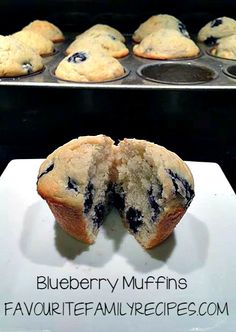 Blueberry Muffin Recipes Favourite Family Recipes @FavouriteFamilyRecipes