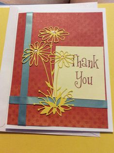 Thank You handmade greeting card handmade Thanks  card with