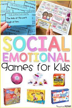 16 social-emotional learning games for kids that are great for the classroom or to use at home to build character and social skills. Social Emotional Activities, Social Skills Lessons, Social Skills Activities, Teaching Social Skills, Social Games, Life Skills, Social Skills For Kids, Emotional Support Classroom, Articulation Activities