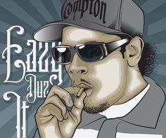 Eazy E nwa gangsta rapper rap hip hop eazy e Canvas Wall Poster #Gangsta HighStRadio.com