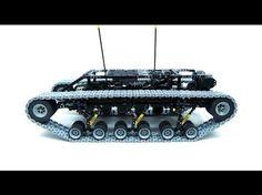 Lego Technic Motorized Ripsaw XL with custom tracks Lego Track, Lego Gears, Technique Lego, Lego Machines, Lego Videos, Lego Sculptures, Lego Mindstorms, Lego Mecha, All Lego
