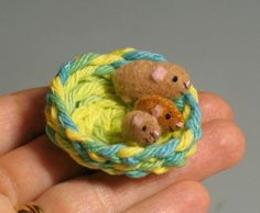 Guinea Minnies: A miniature guinea pig family $22 on Etsy