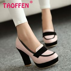 Купить товарДамы туфли на каблуках женщин сексуальное платье модной обуви мода леди женщина бренд туфли на высоком каблуке P13025 горячая распродажа евро 34   43 в категории Туфлина AliExpress.