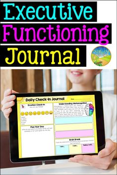 The most incredible printable and digital executive functioning check-in journal for your students! Use one page per day to highlight different critical skills like metacognition, planning, organization, and self-control. Kids and teens will also get a daily emotions check-in, space to plan for the day, and a brain break. Perfect to integrate EF skills and study skills with your learners! Day Schedule, Executive Functioning, Student Success, Planning Your Day, Study Skills, Self Control, Brain Breaks, Time Management, Highlight