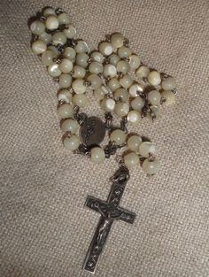 Mother of Pearl rosary from France #2  ~this looks like my First Communion rosary.