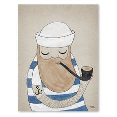 Saved by Michelle Carlslund (michellecarlslund). Discover more of the best Illustration, Michelle, Sailor, Carlslund, and Hat inspiration on Designspiration Art And Illustration, Design Digital, Inspiration Art, Art Paintings, Illustrators, Sketches, Animation, Art Prints, Drawings
