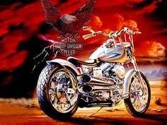 I would have a customn Harley made for my hubby!