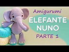 Elephant Nuno Part 1 Amigurumi Step by Step by Amigurumi Toys, Amigurumi Patterns, Crochet Dolls, Knit Crochet, Giraffe, Elephant, Amigurumi For Beginners, Amigurumi Tutorial, Knitting Videos