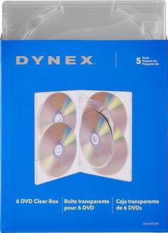 Dynex™ - DVD Storage Boxes (5-Pack) - Clear, DX-6DVD5PK
