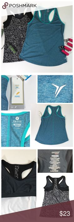 Old Navy NWT and Danskin Athletic Top Bundle Old Navy NWT/Danskin Athletic  Racerback Tank Top Bundle- Both Size Medium-Old Navy is  NWT-Lightweight-nice stitching and  Color combo-Danskin is thicker and  Will hold your stomach area in-built in bra- Both are great quality.  ✅Please see pics for more info and       approx: measurements... ✅Please ask all questions prior to purchasing❓  ⭐️Thank you-Deb ⭐️@bootz1342  ✅OFFERS and Bundling are encouraged😉 🌟Have fun Poshing🌟 Tops Tank Tops