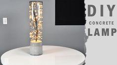 DIY Indoor Outdoor concrete lamp 2