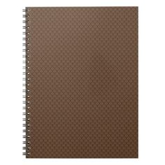 Coffee Brown Fish Scales Pattern Notebook - patterns pattern special unique design gift idea diy