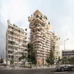 sou fujimoto  laisné roussel propose vegetated towers for bordeaux euratlantique