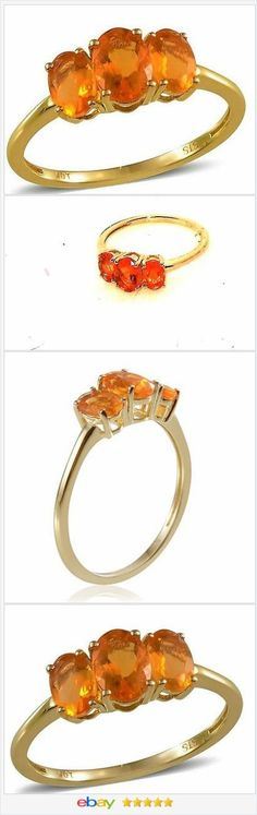 Jalisco Fire Opal 10K Yellow Gold Ring 1.30 Carats. Size 8 CHRISTMAS IN JULY  50% OFF #EBAY http://stores.ebay.com/JEWELRY-AND-GIFTS-BY-ALICE-AND-ANN