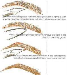 shaping and grooming eyebrow tips