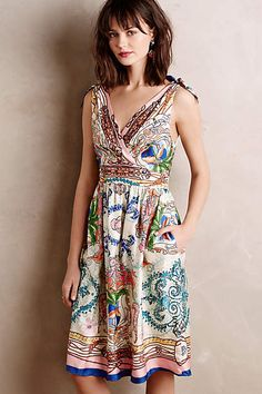 The perfect dress for a summer fete: Tied Acionna Silk Dress - anthropologie.com #AnthroFave