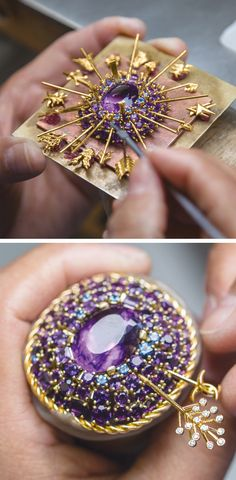 Each of the multiple gold arrows piercing the center amethyst of this clip is unique and whimsical. Designed by Jean Schlumberger, the jewel was created by Tiffany artisans for our most recent Blue...