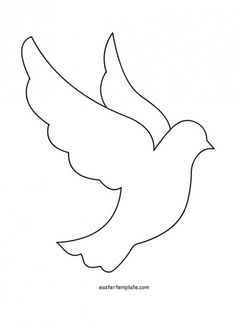 45 ideas embroidery patterns free printables templates for 2019 First Communion Banner, Première Communion, Felt Crafts, Paper Crafts, Easter Templates, Bird Template, Ornament Template, Peace Dove, Church Banners