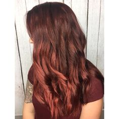 long, thick red hair using pravana