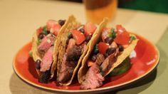 Bobby Deen's Steak Tacos  with Black Bean Pico de Gallo