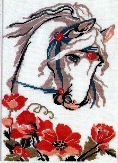 patrones depunto de cruz sobre caballos. | Aprender manualidades ...