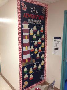 Adventure Begins classroom door beginning of the year