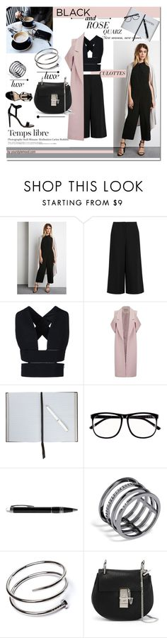 """Culottes!"" by yourstylemood ❤ liked on Polyvore featuring Forever 21, Elizabeth and James, STELLA McCARTNEY, Lavish Alice, Smythson, H&M, Montblanc, BaubleBar, Chloé and Dorothy Perkins"