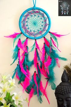 Mystic Dark Green and Pink Dreamcatcher (Collection 01, 2017)