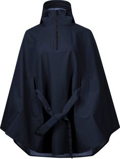 Stylish and functional this waterproof, windproof and breathable poncho offers an elegant solution to Spring showers. Oslo, Ladies Poncho, Spring Shower, Sustainable Fabrics, Sport, Dark Navy, Coats For Women, Parka, Raincoat