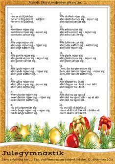 Julesange - Festsange med mere Danish Language, Christmas Diy, Christmas Decorations, To My Daughter, Singing, Party, Dessert, Humor, Ideas