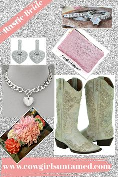 Off White Crystal Studded Floral Embroidery Genuine Leather Womens Cowgirl Boots $234.99 FREE USA SHIPPING w/FREESHIP20 Paired w/handmade boot garter, rhinestone heart jewelry. pink sequin bag, Topaz wedding band set #topaz #weddingband #925SS #wedding #jewelry #westernbride #westernwedding #rusticwedding #cowgirlwedding #bride #weddingboots #bridalboots #offwhiteboots #crystalboots #bootjewelry #floral #women #fashion #outfit #cowgirl #heartnecklace #rhinestone #heartearrings #crystalboots Cowgirl Style Outfits, Womens Cowgirl Boots, Cowgirl Fashion, Cowgirl Wedding, Wedding Boots, Wedding Band, Boot Jewelry, Heart Jewelry, Autumn Fashion Women Fall Outfits