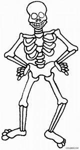 FREE Printable Skeleton Coloring Page for Kids | Coloring ...