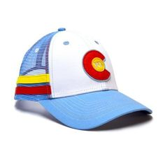 POWDER BLUE TRUCKER HAT