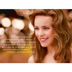the vow- beautiful quote... And Rachel mcadams <3