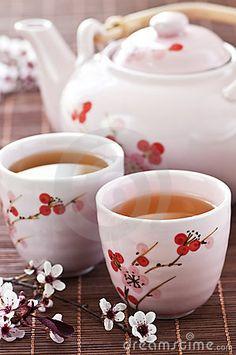 Green tea set by Elena Elisseeva