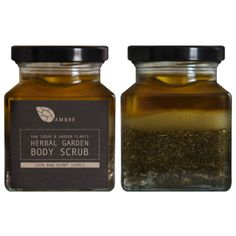 HERBAL GARDEN BODY SCRUB // All Ambre products are from raw natural high grade cold pressed essential oils and suitable for vegetarians and vegans. Body Cleanser, Bottle Design, Organic Beauty, Natural Beauty, Body Scrub, Diy Beauty, Beauty Makeup, Candle Jars, Candles