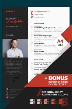 Make use of an easy-customizable Matthew Gray Gubler Business Analyst Resume Template to stand out on the job market. Modern Resume Template, Cv Template, Resume Templates, Resume Cv, Resume Design, Cv Profile, Powerpoint Tips, Business Analyst, Matthew Gray Gubler