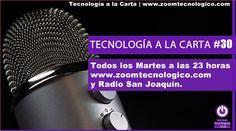 Tecnología a la Carta es un programa de radio que se emite en Radio San Joaquín y en la web de Zoom Tecnológico. Recopila informaciones y noticias interesantes.