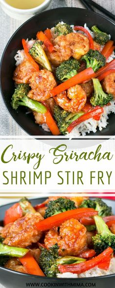 Make this Crispy Honey Sriracha Shrimp Stir Fry in just minutes! Loaded with honey sweetened spicy sauce and tender vegetables for incredible flavor! Sriracha Recipes, Shrimp Recipes, Fish Recipes, Asian Recipes, Mexican Food Recipes, Dinner Recipes, Healthy Recipes, Sriracha Sauce, Yummy Recipes