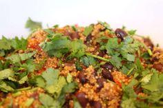 Quinoa with Black Beans and Cilantro