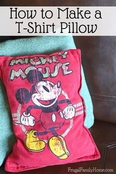 If you have a favorite t-shirt don't throw it out recycle old t-shirts into colorful pillows for Christmas gifts. This is how to make a t-shirt pillow for yourself. It's easy to do taking about 15 minutes from start to finish. I love to make these using m