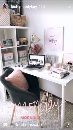 Organisation, home office furniture, home office decor, office desk, diy ho Small Office Decor, Home Office Decor, Home Decor, Office Ideas, Office Designs, Master Bedroom Interior, Bedroom Decor, Bedroom Ideas, Bedroom Bed